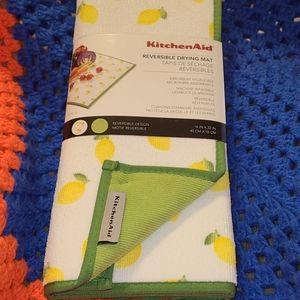 Reversible dish drying mat lemon theme 2 pack